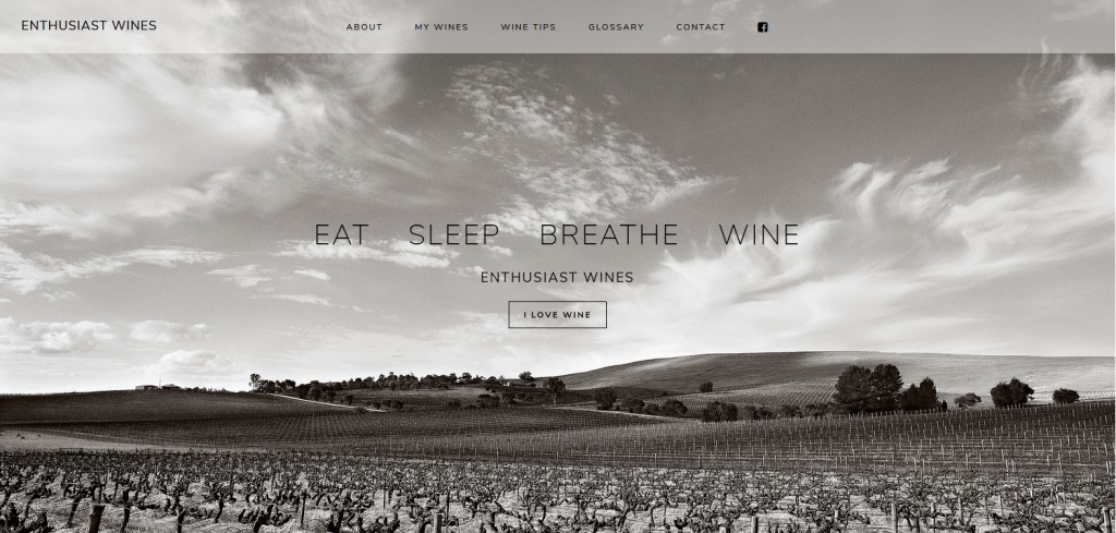An example of our web design the enthusiast wines web site