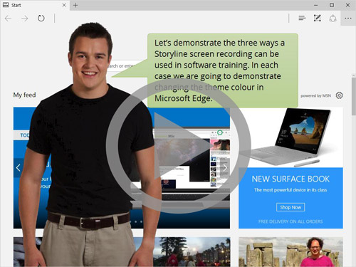 Example Articulate Storyline course showing software training solutions